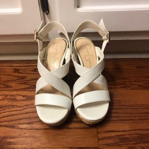 Jessica Simpson White Wedge